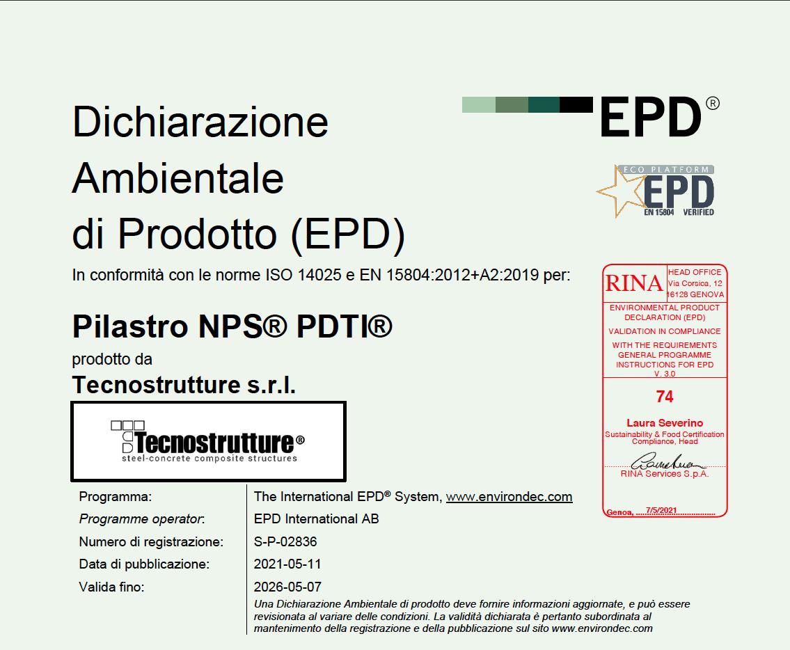 EPD PILASTRO PDTI