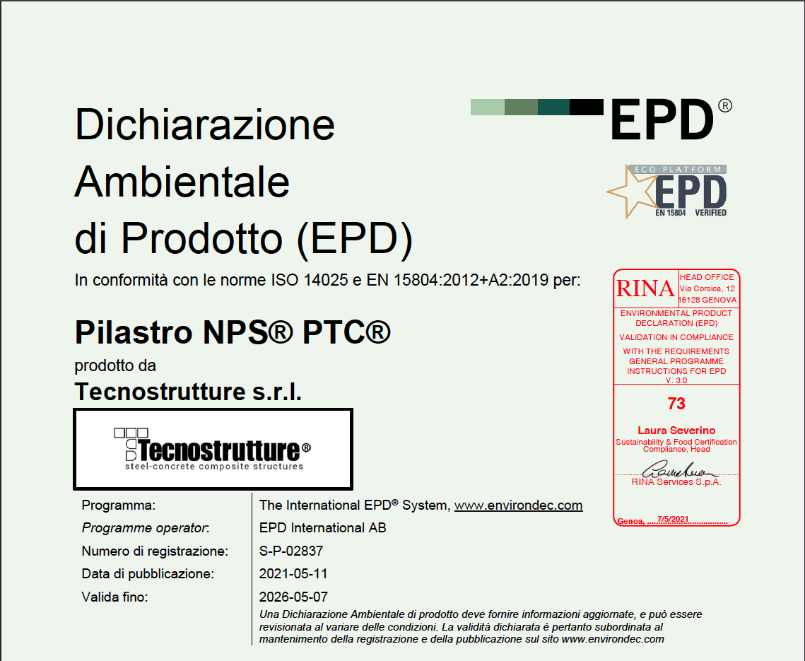 EPD PILASTRO PTC